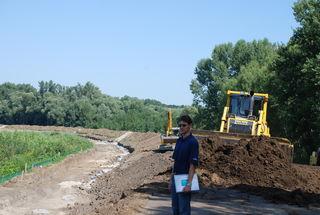 Der Dammbau wurde teilweise gestoppt.