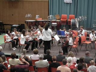 So wie die Streicher unter Ruth Frauendienst, zeigten alle Instrumentengruppen beim Jubiläumskonzert ihr Können.