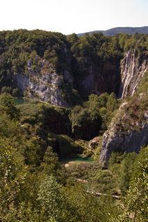 Der Eingang zum Nationalpark und Weltnaturerbes Plitvicer Seen