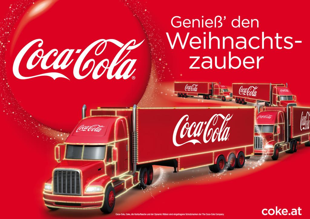 Coca Cola Werbung Weihnachten.Der Coca Cola Weihnachtstruck Besucht Die Steiermark Leoben