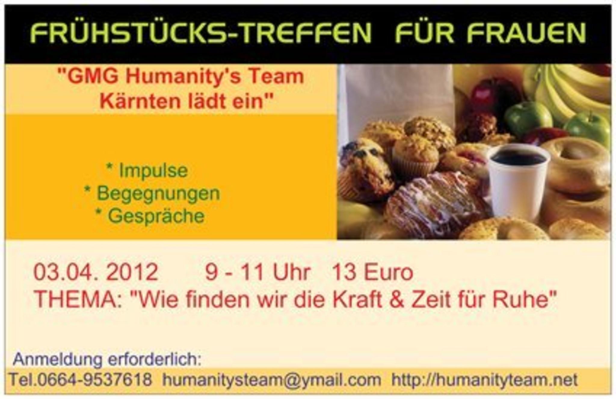FRHSTCKS-TREFFEN FR FRAUEN 3.4.2012 9-11 Uhr