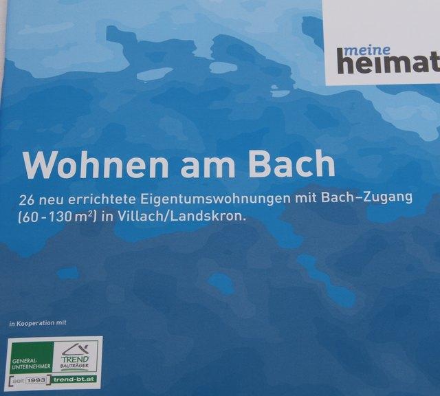Meine Heimat Lud Zur Dachgleiche Am Bach Villach