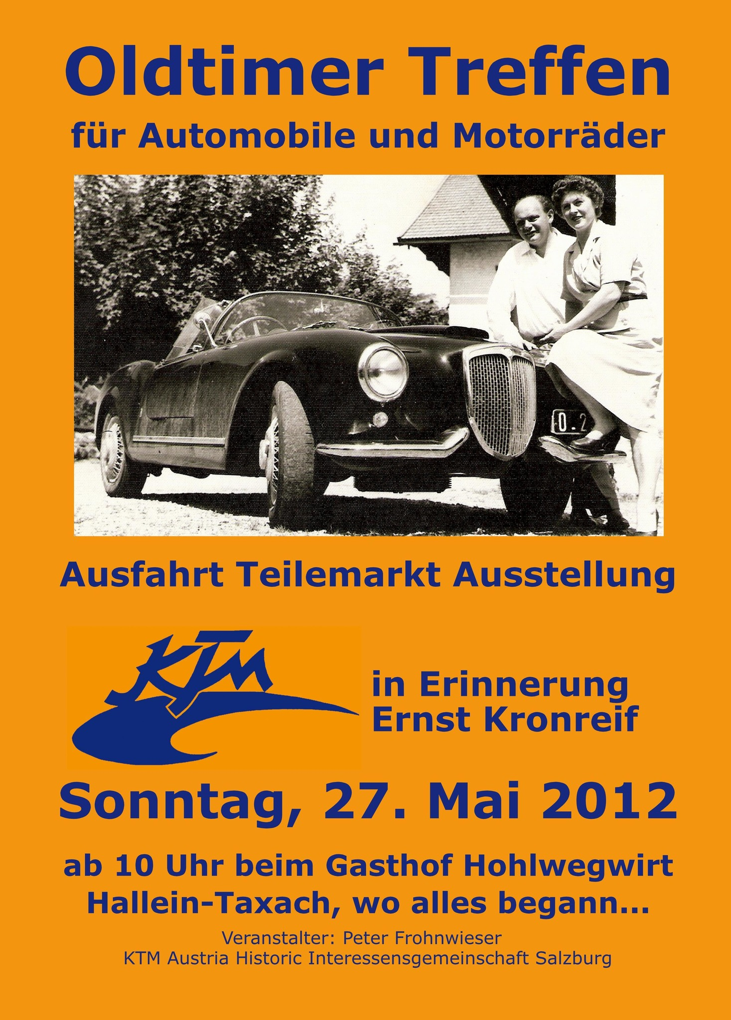 KTM Historic Sternfahrt beim Gasthof Hotel Hohlwegwirt