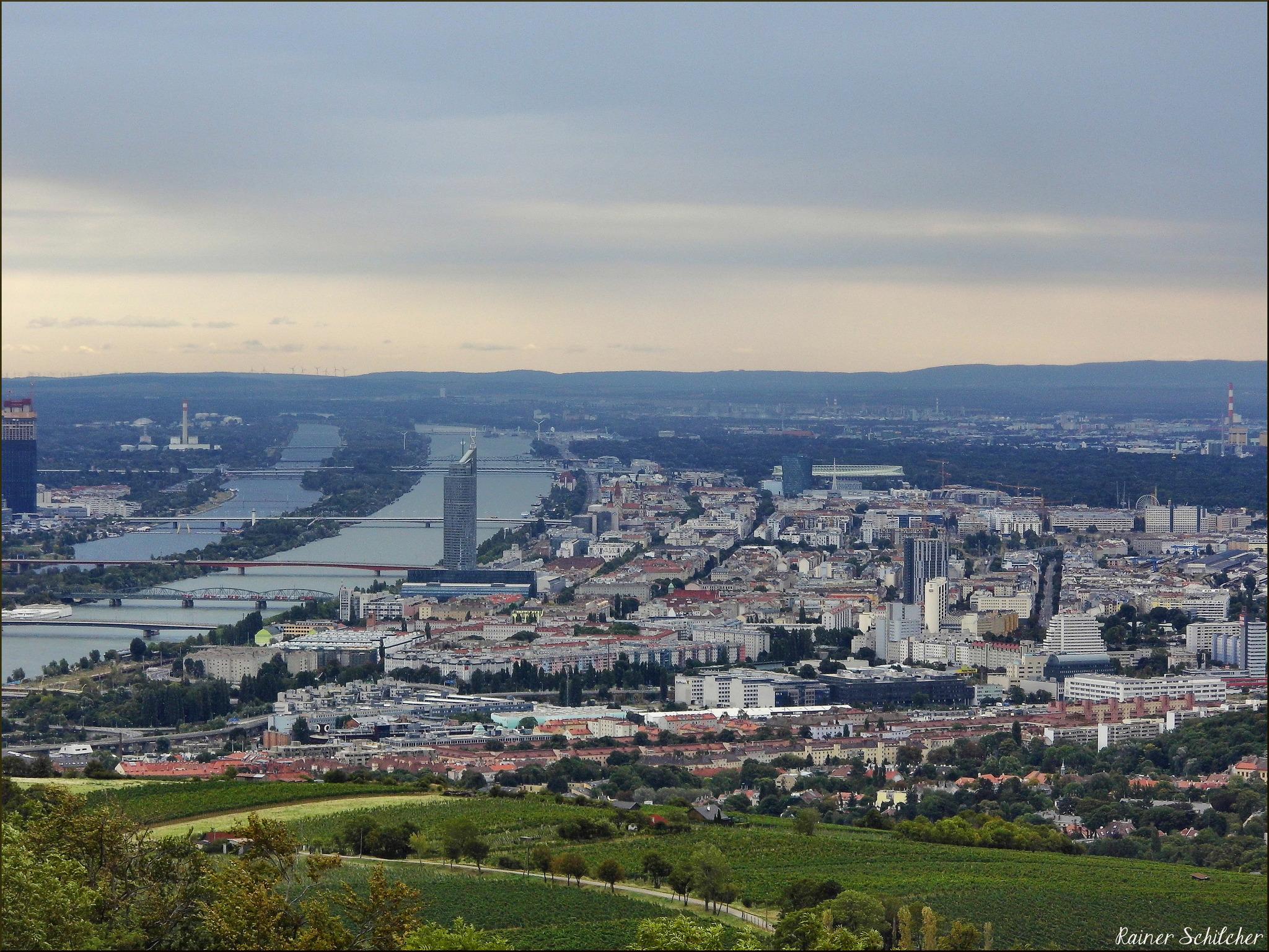 Weitblick Auf Wien Vom Kahlenberg Und Vom Reisenberg Döbling