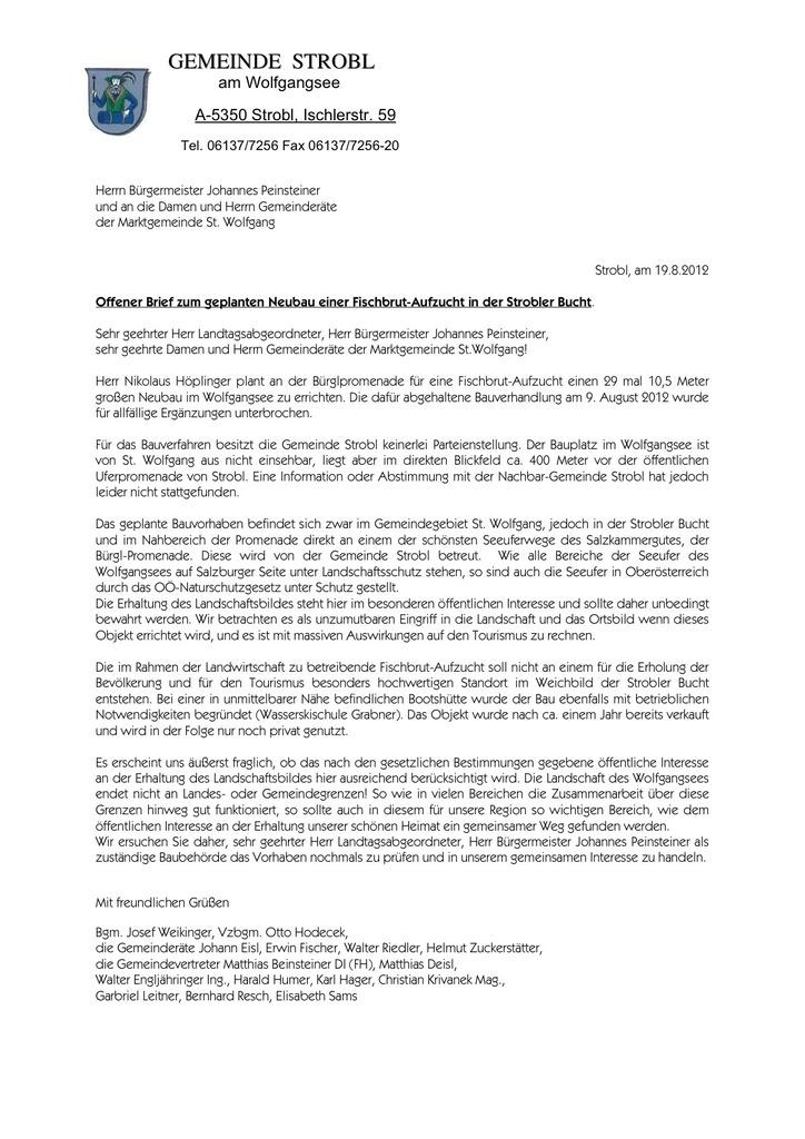 Wolfgangsee Thema Auf Meinbezirkat