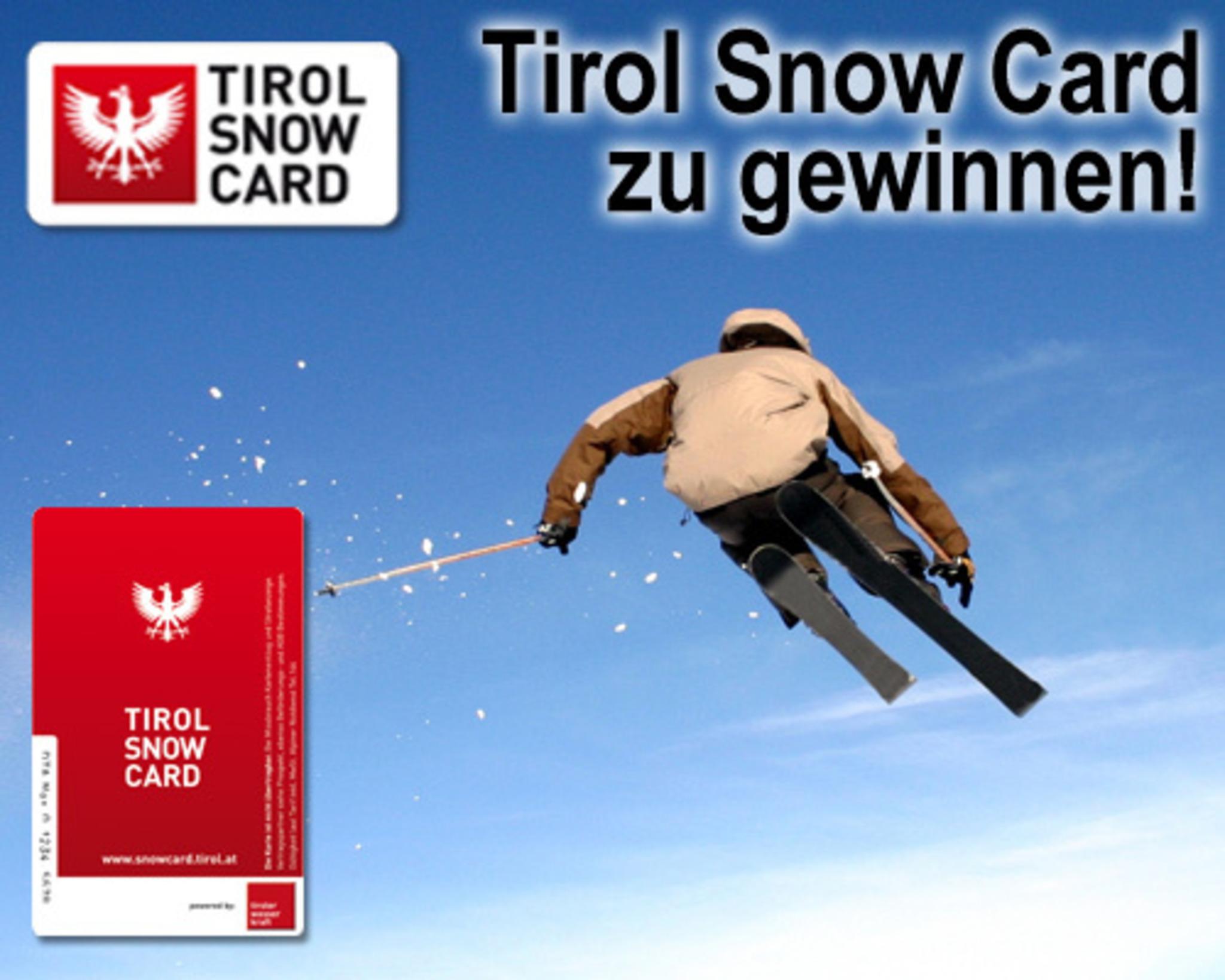 TIROL SNOW CARD GEWINNSPIEL