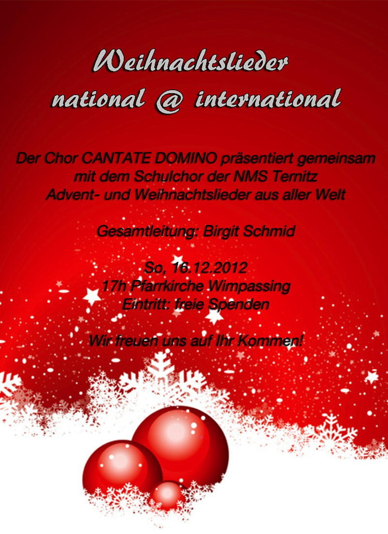 Weihnachtslieder International.Weihnachtslieder National International Neunkirchen