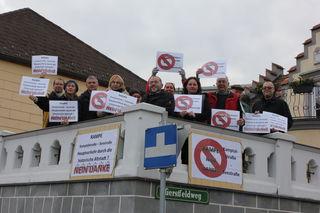 Die Bewohner der Seestraße werden aktiv von den Grünen Langenlois unterstützt.