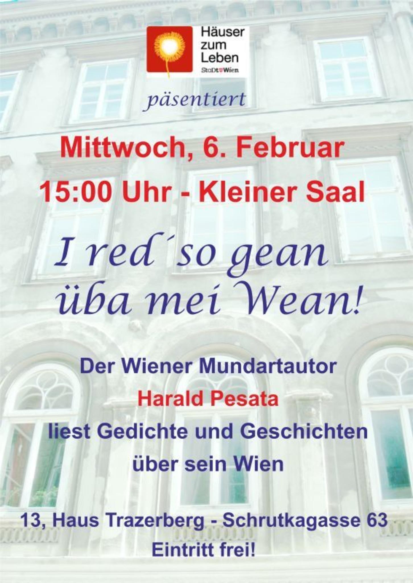 Der Wiener Autor Harald Pesata Liest I Red So Gean üba Mei