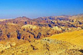 Auf der Fahrt von Aqabah nach Petra