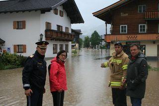 Der Krisenstab tagte im Landhaus in Innsbruck u. a. mit LHStv Ingrid Felipe, LH Günther Platter und LHStv Josef Geisler.
