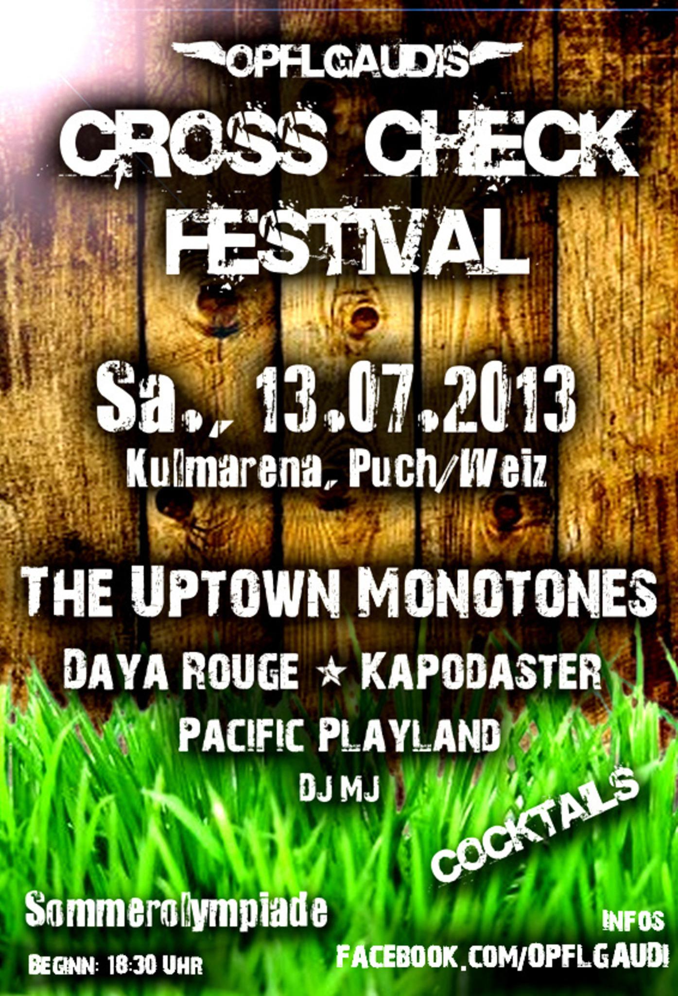 CROSS CHECK Festival 2013, 13  Juli - Weiz