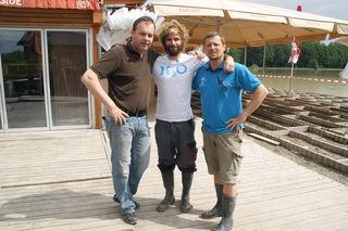 Robert Thalhammer, Stefan Kastner und Manfred Friesenbichler wollen wissen wie es mit den Feldkirchner Seen nach dem Hochwasser weitergeht.