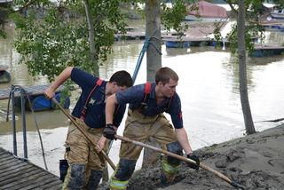 Voller Einsatz: über 400 Helfer waren in Marbach im Einsatz.