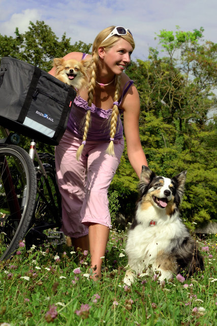 Mit dem Fahrrad und auf vier Pfoten unterwegs Graz