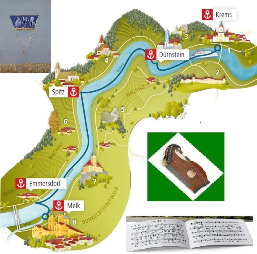 Wachau Karte Donau.Ausflug In Die Wachau Mit Dem Zitherklub Donau Stadt Wien