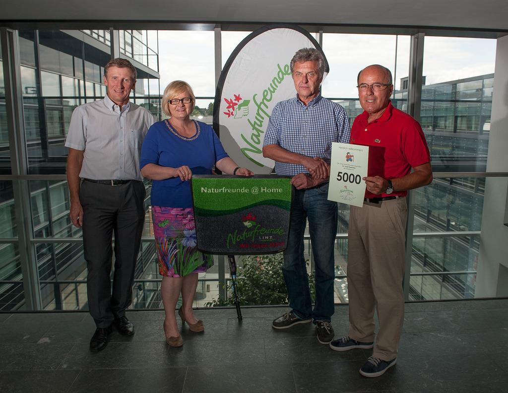 Naturfreunde Linz Begrüßten 5000stes Mitglied Linz