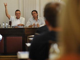 Stadtvize Martin Fasan (l.) mit StR Walter Painer. Erst eine Woche nach der SPÖ-Enthüllung kontert Fasan mit neuen Zahlen.