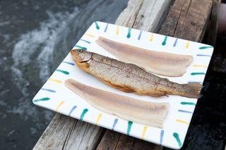 """Nachhaltiger erzeugten Fisch erkennt man an Gütesiegeln wie etwa """"Gutes vom Bauernhof""""."""