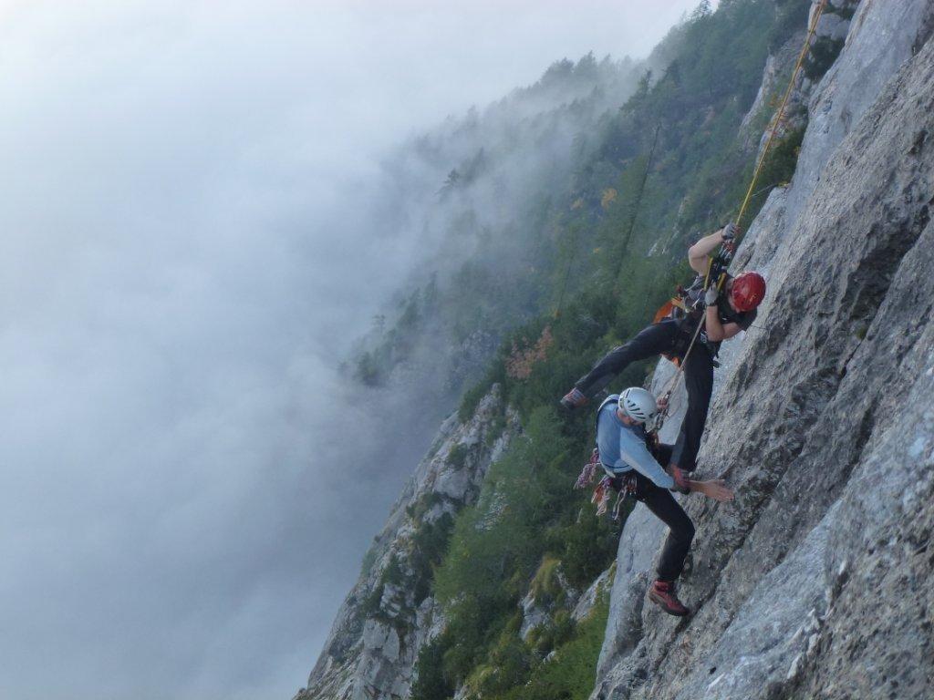 Klettersteig Seewand : Spektakuläre Übung im berüchtigten seewand klettersteig salzkammergut