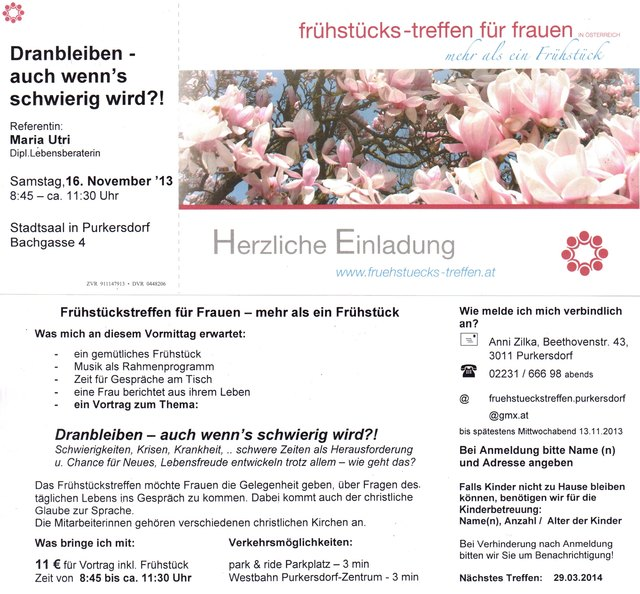 frhstcks-treffen fr frauen - Purkersdorf - optical-mark-recognition.com