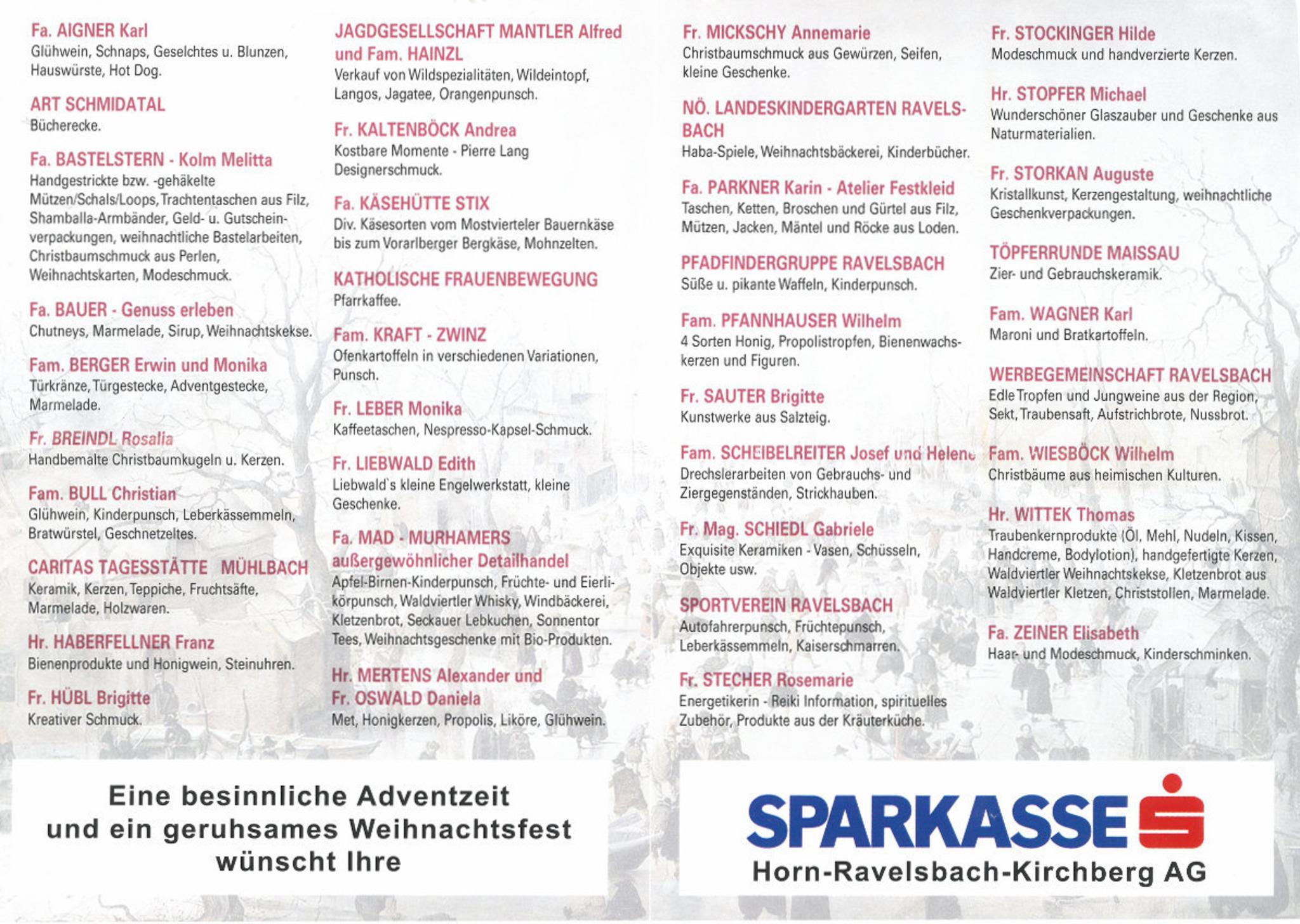 Weihnachtskekse Brigitte.20 Ravelsbacher Adventmarkt Hollabrunn