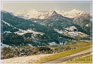 Blick vom Grubhof auf Bad Hofgastein 1992