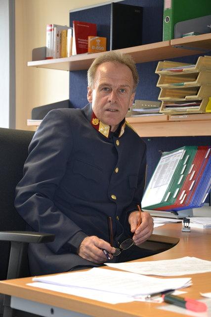 Schärdings Bezirkspolizeikommandant Matthias Osterkorn.