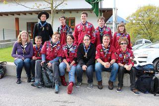 Die PfadfinderInnen aus Zams hatten große Spaß bei der Jubiläumsfeier in Jenbach.