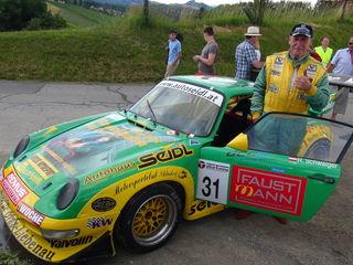 Rupert Schwaiger im Porsche 911: Tagessieger der Bergrallye Seggauberg-Gamlitz.