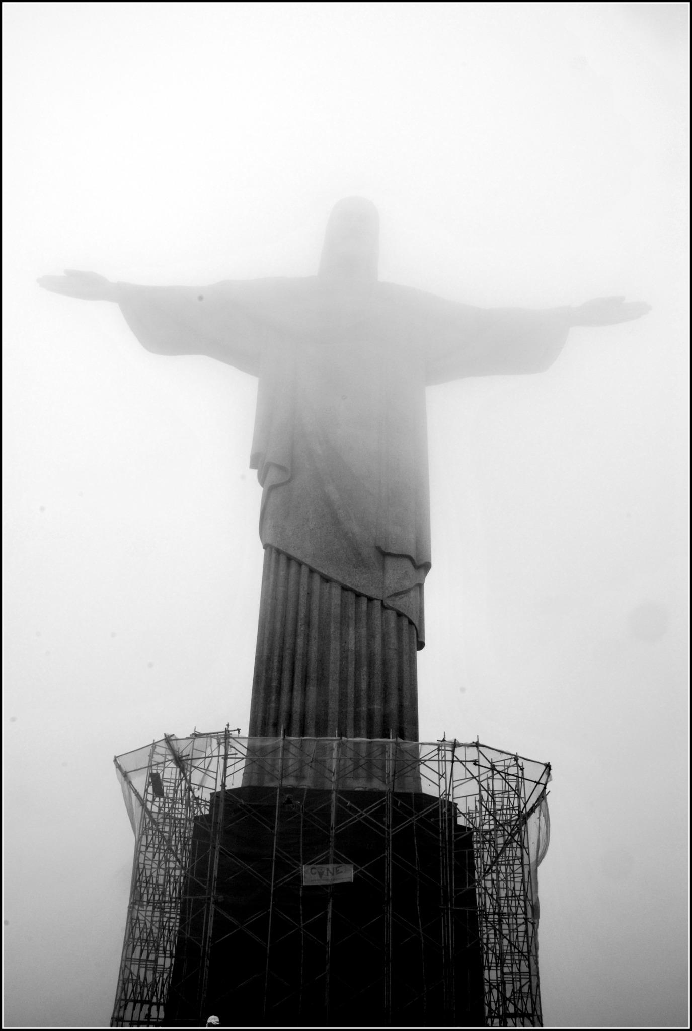 Rio De Janeiro Christus Statue Wahrzeichen Dieser Stadt Hollabrunn