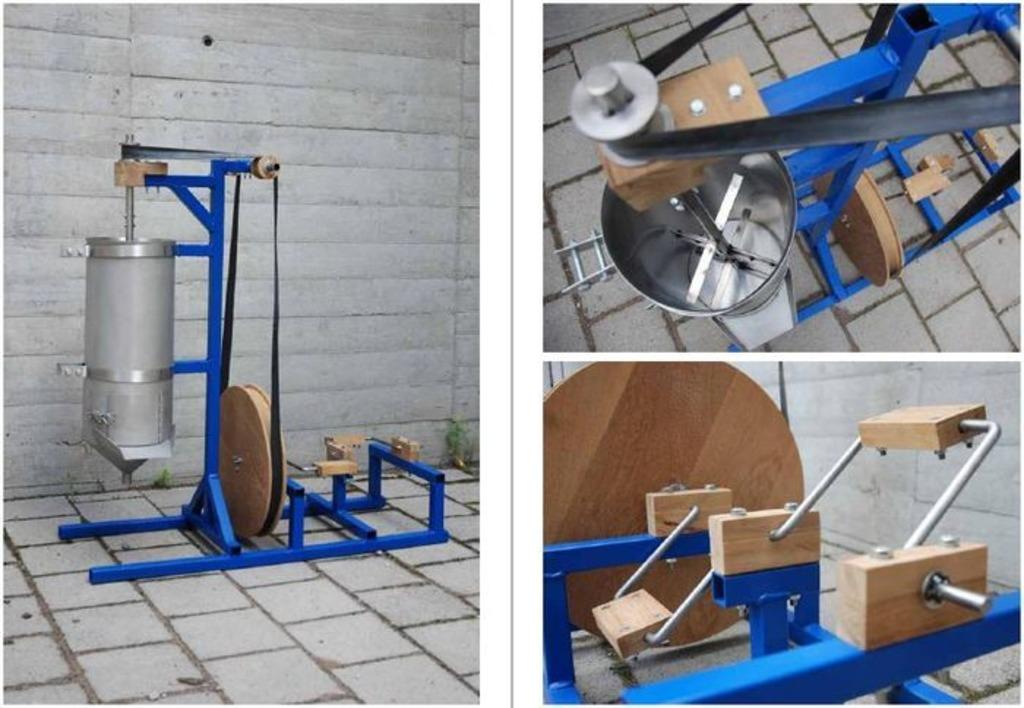 Pedalbetriebene Saftpresse Obstpresse Zum Selberbauen Aus Schweden