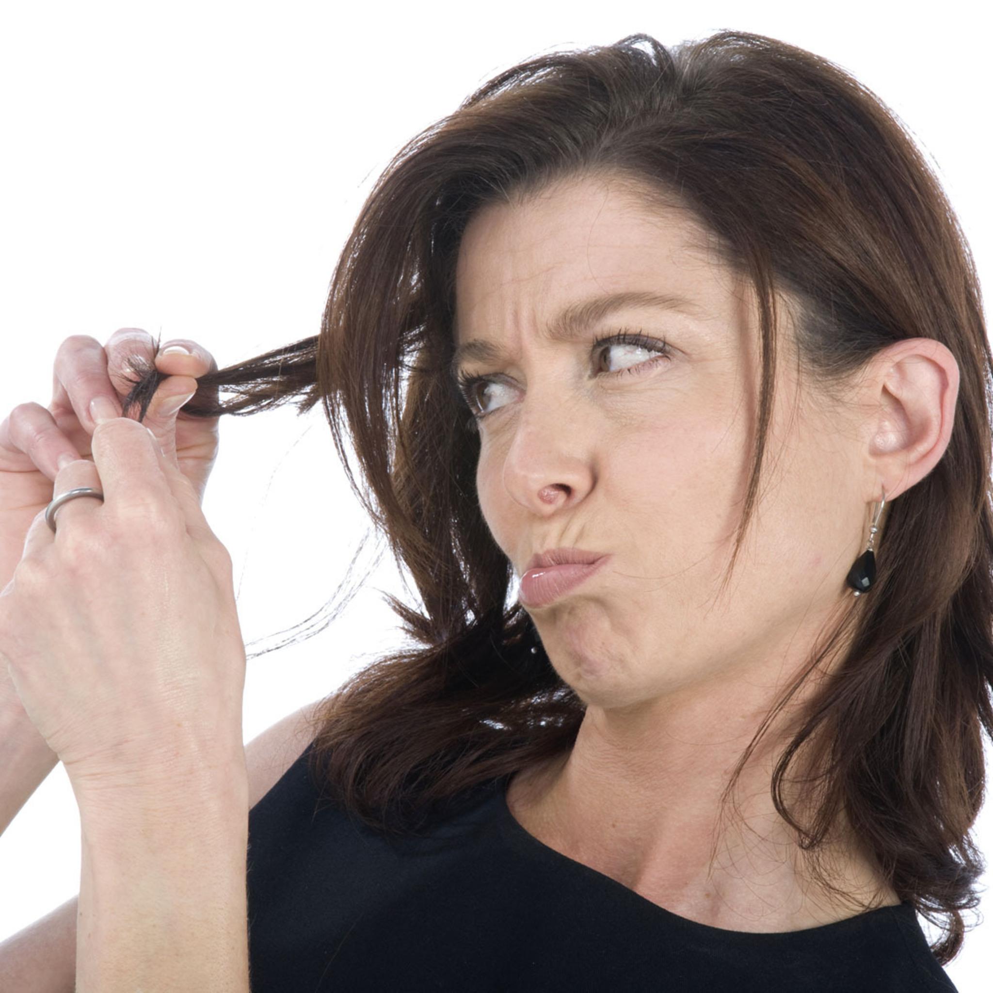 Schulterlange haare spitzen schneiden