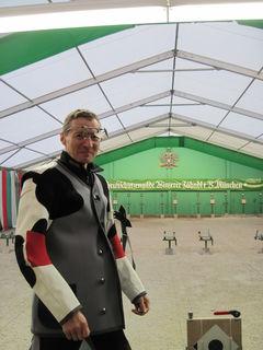 Harald Schimböck kurz vor Wettkampfbeginn um 8:00 Uhr