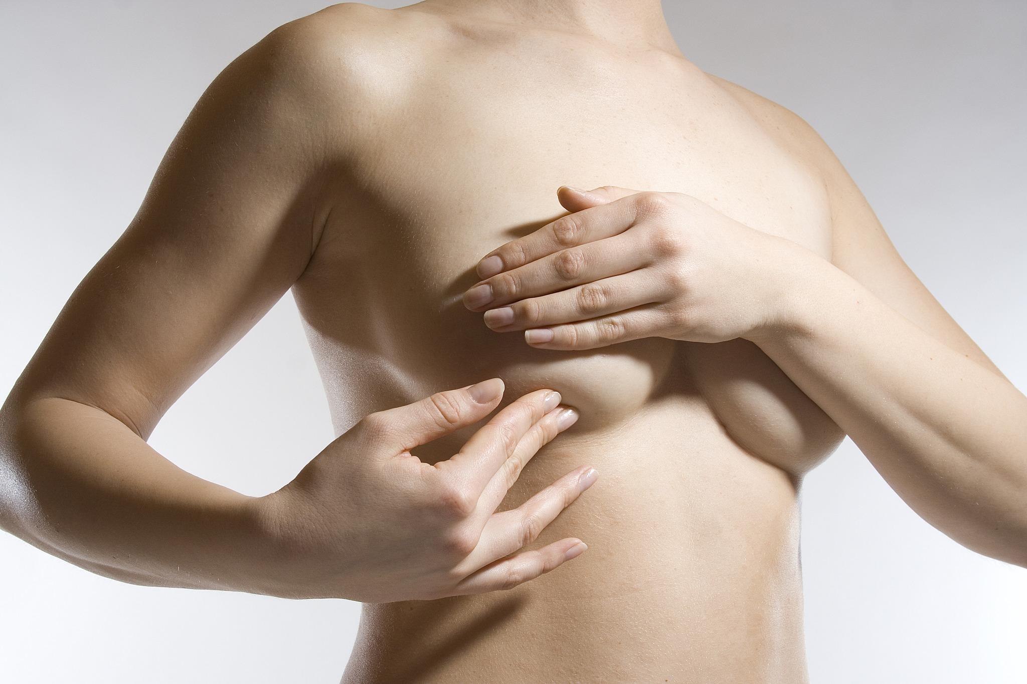 Krebsartige Knoten in der Brust