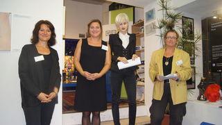 Heide Spitzer, Bettina Sticher, Lisa Lasselsberger und Kerstin Eberhard