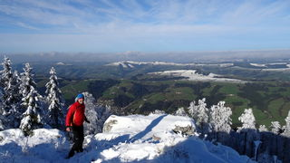 Atemberaubender Tiefblick vom Prochenberg-Gipfel auf Ybbsitz
