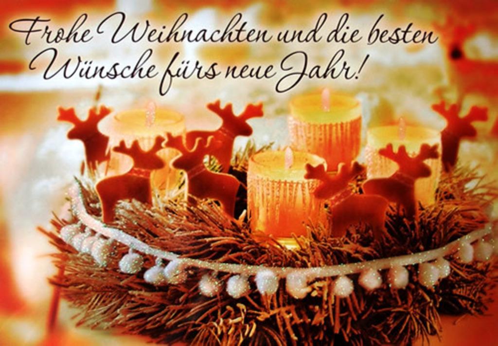 Wünsche Euch ein frohes Weihnachtsfest und einen guten Rutsch ins ...