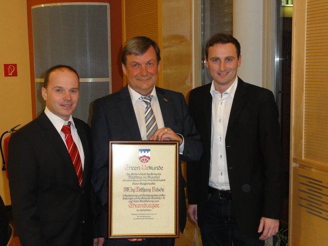 Brgermeister Jochen Jance, der Gemeinderat und die