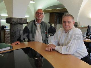 Winfried Lehmann links) und Ewald Ulrich