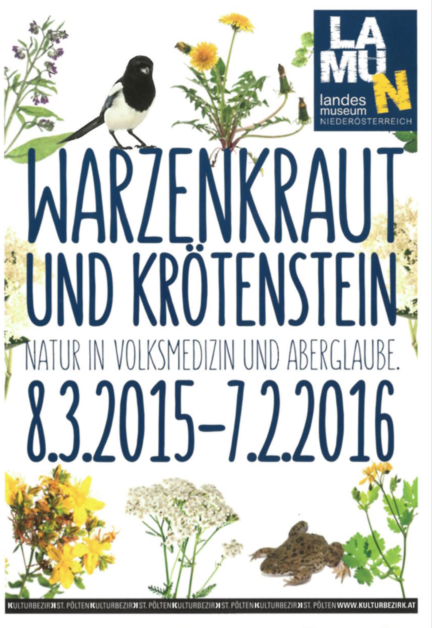 Warzenkraut + Krötenstein - Natur in Volksmedizin und Aberglaube