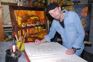 Der Rabensburger Künstler Christoph Potmesil zeigt seine Werke am 14. November in Weikendorf.