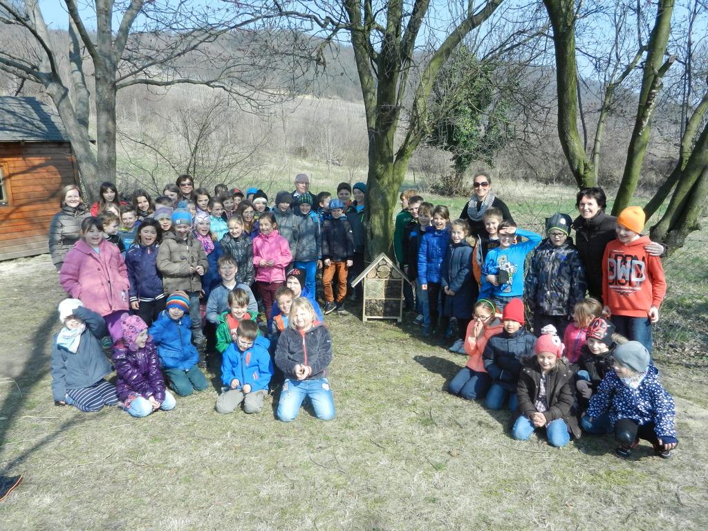 Kinder Der Volksschule Donnerskirchen Freuten Sich über Das Insektenhotel In Ihrem Schulgarten