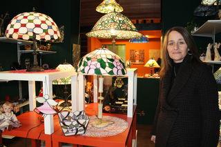 Neben schönen Tiffany-Lampen findet man im Atelier Harmony auch exklusive Geschenkartikel.