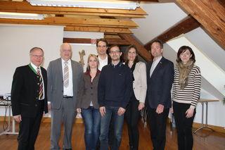 Für mehr Gesundheit: Josef Ober, Hannes Hofmann, Yasmin Fakur, Martin Heine, Mehran Fakur, Renate Heine-Mernik, Chris-tian Krotscheck, Beatrix Lenz (v.l.).