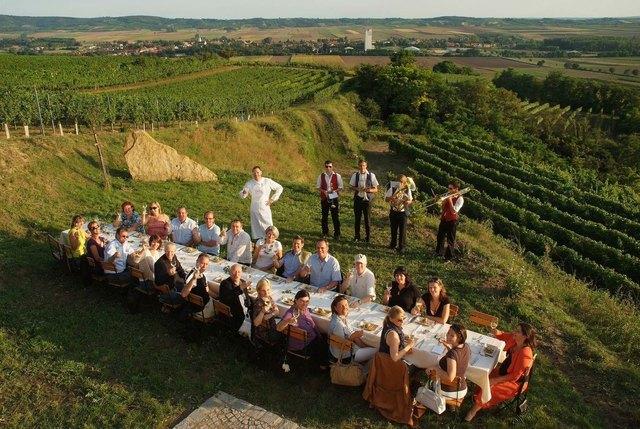 Tafeln und genießen in Mitten der Weinberge – ein unvergessliches, kulinarisches Erlebnis.