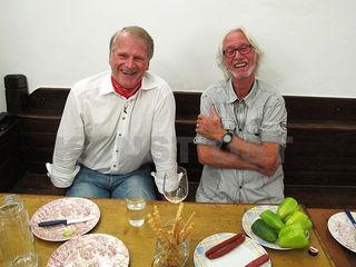 Bürgermeister Peter Moser (links) und Aprilfestival-Kurator Winfried Lehmann