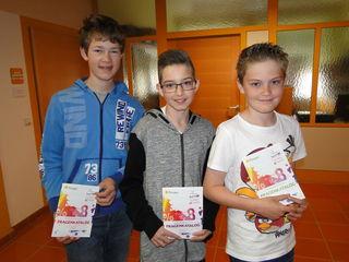 Die drei erfolgreichen SchülerInnen der NMS Pischelsdorf.