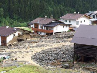 Murenabgang: Ein Ortteil von See wurde in der Nacht auf Montag schwer verwüstet.