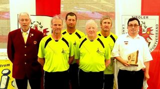 Vize-Präs. Rudolf Mühlegger, Michael Gschaller, Bruno Hurnaus, Thomas Zaggl, Bernhard Brunner, BO Andi Aberger.